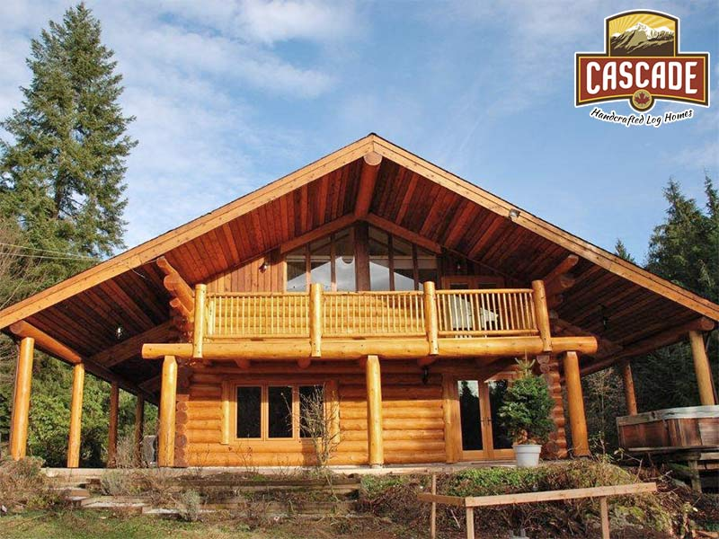 BC Log Home After Cascade Renovation