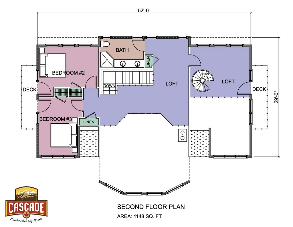 Log Home Floor Plans 3000 5000 Sq Ft Cascade Handcrafted