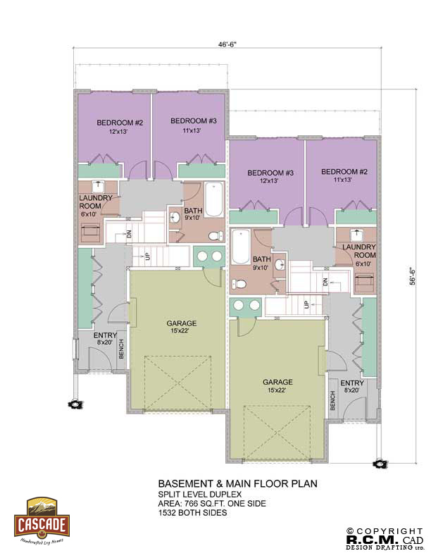 Log home floor plans 3000 5000 sq ft cascade handcrafted for 5000 sq ft house plans with basement
