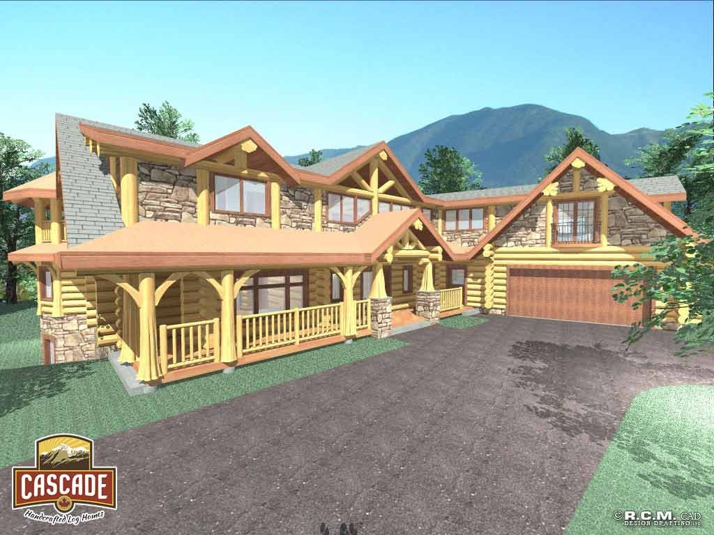 Interior 2nd Floor View Cascade Handcrafted Log Homes Building Custom