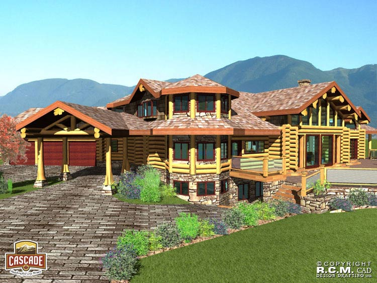 Custom Log Homes Interiorscascade Handcrafted Log Homes