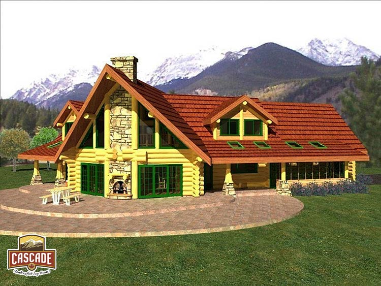 Log Home Floor Plans 2400 3000 sq ft Cascade Handcrafted Log Homes