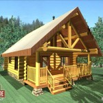 Cascade Handcrafted Log Homes - cozy log cabin floor plan
