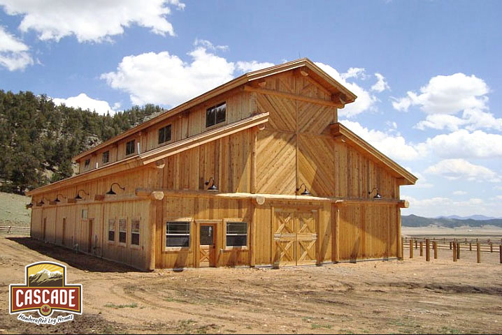 Commercial log structures projects cascade for Ranch log homes