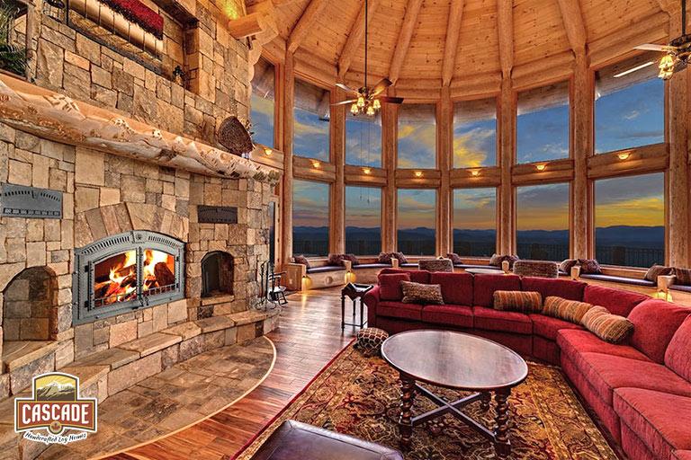 Log Homes - Cascade Handcrafted Log Homes - Custom Design & Build