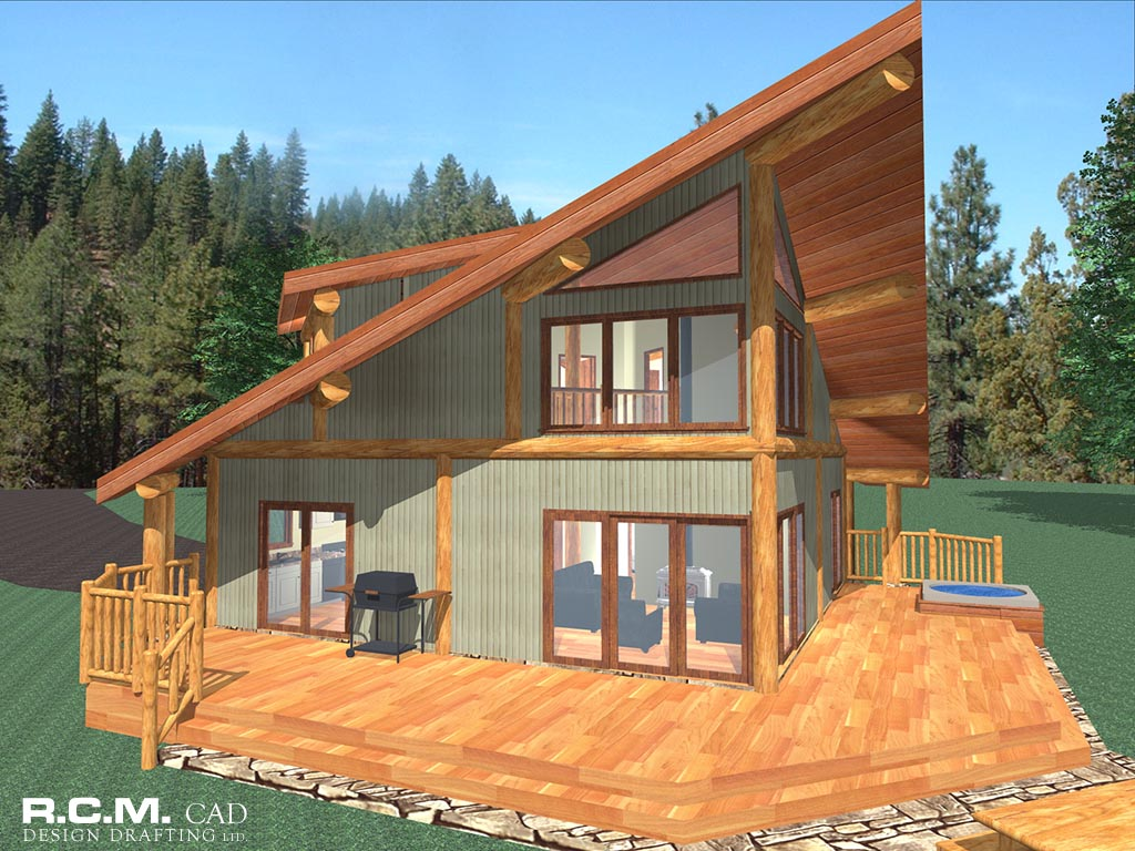Latewood post beam log home cascade handcrafted log homes for Post beam house