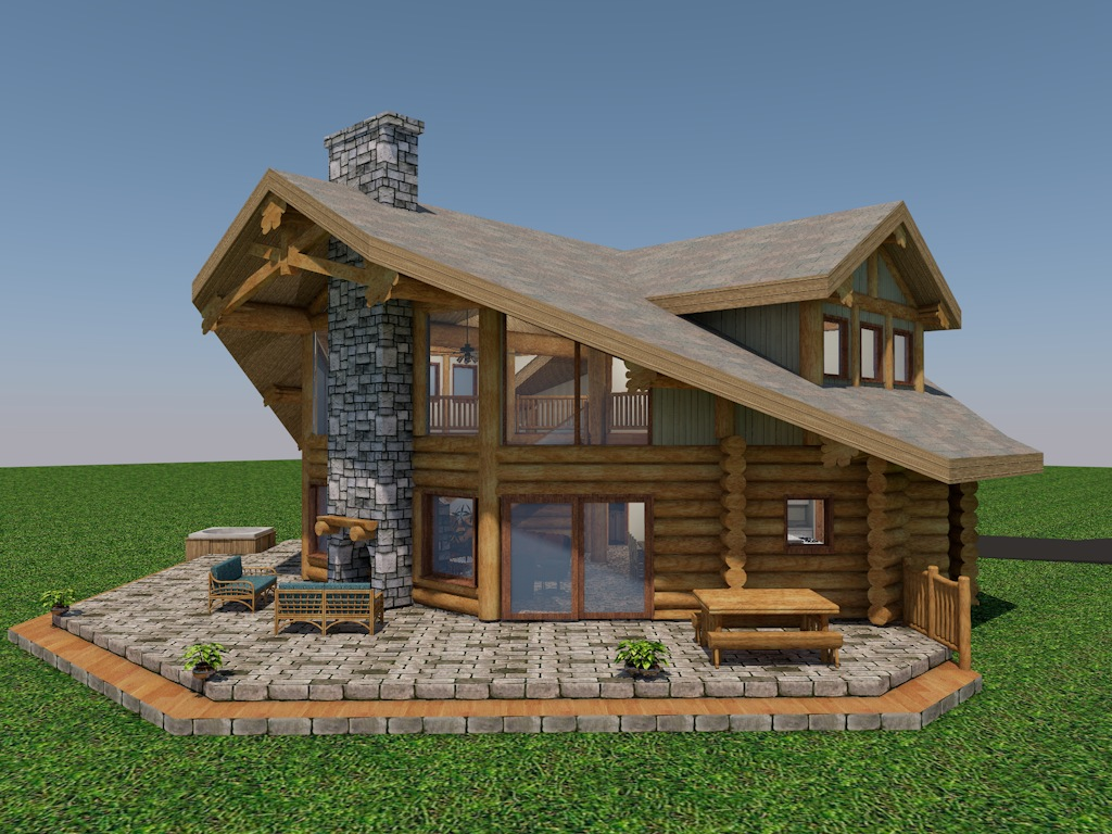 Washington State Log Home Cascade Handcrafted Log Homes