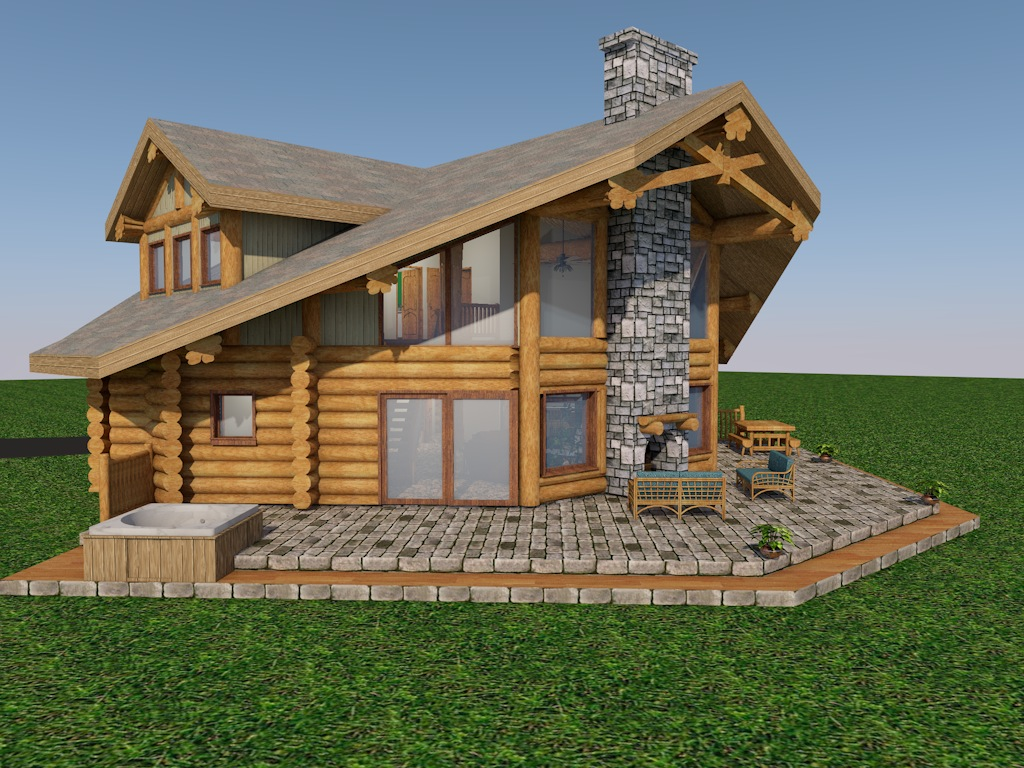 Washington state log home cascade handcrafted log homes for Washington home builders