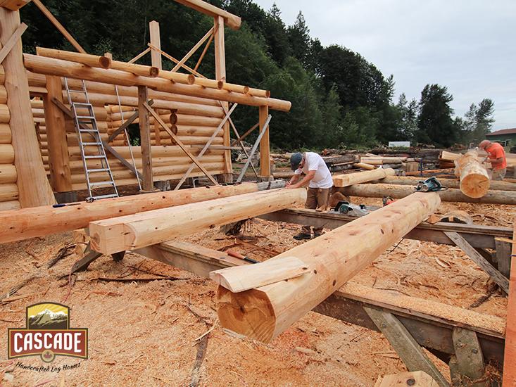 Piece en piece update cascade handcrafted log homes for Cascade house