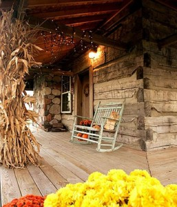 halloween rustic porch