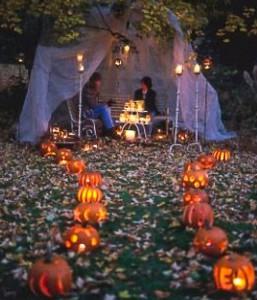 rustic halloween tent