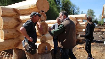 Australian visitors - Cascade-Handcrafted-Log-Yard