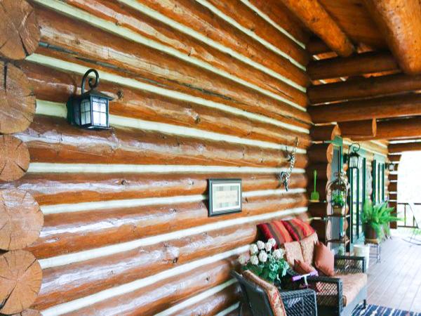 Chinked Log Home