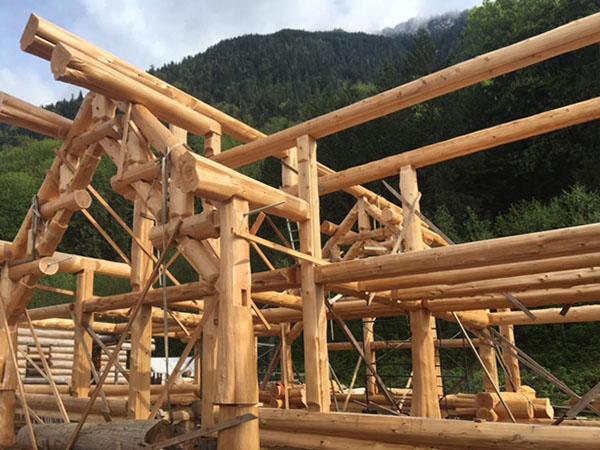 Post and Beam Log Home
