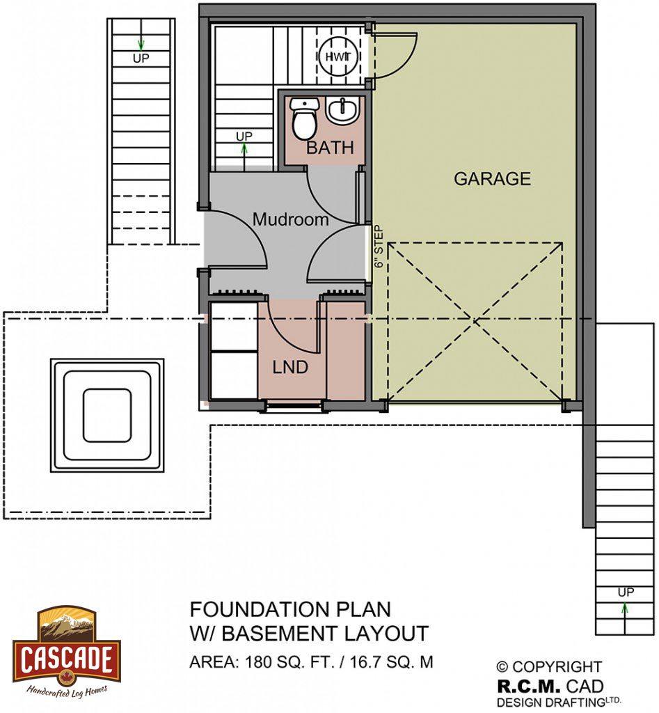 Log Home Floor Plans 500 1500 Sq Ft Cascade