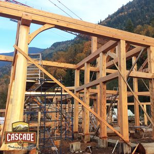 Timber Frame Beams - Cascade Handcrafted Log Homes