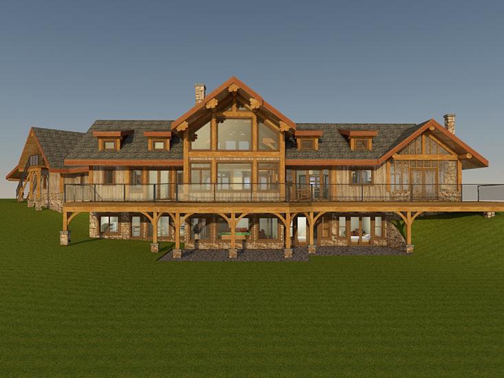 Cascade Handcrafted Log Timber Home