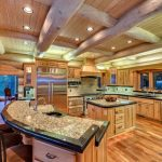 modern log home kitchen design