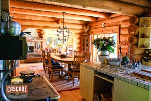 rustic log home kitchen design