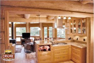 Minimalist Log Cabin Kitchen Design